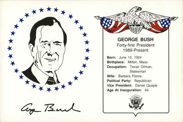 George Bush, Inauguration Day 1989 Washington District of Columbia