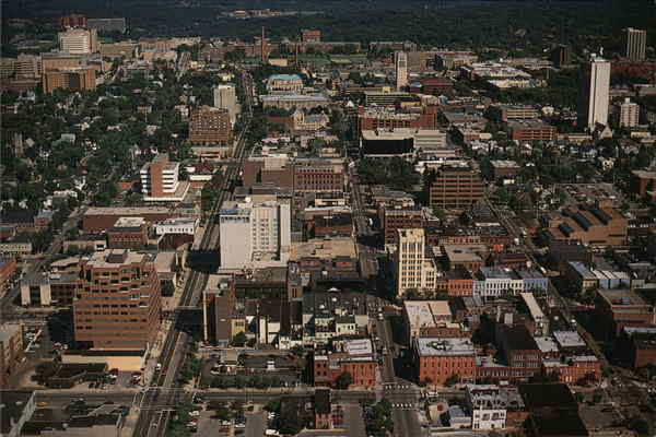 Aerial View Ann Arbor Michigan