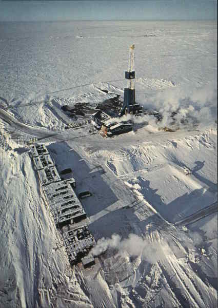 A BP Drill Site on the North Slope Alaska Oil Wells