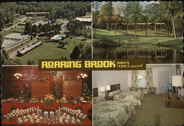 Roaring Brook Ranch's Tennis Resort Lake George, NY Postcard