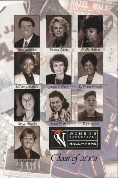 2001 Women's Basketball Hall of Fame Knoxville Tennessee