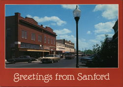 Greetings from Sanford Postcard