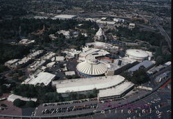Aerial View of Anaheim with Disneyland