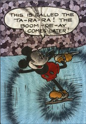 Sunday Comic Strip (1935) ice skating Mickey Mouse