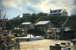 Lobster Gear and Docks at Menemsha Basin