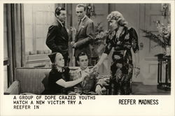 "Group of Dope-Crazed Youths Watch a New Victim Try a Reefer in ""Reefer Madness"""