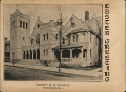 Easter Greetings, Trinity M.E. Church Postcard