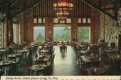 Dining Room, Grand Canyon Lodge No. Rim Postcard