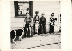 Children and Dogs - July 1944