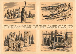 Tourism Year of The Americas' 72 Postcard