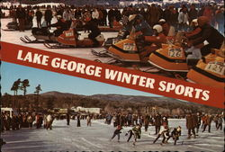 Lake George Winter Sports Postcard