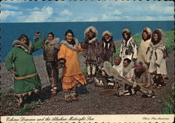 Colorful Eskimo Dancers in Alaska - Coded Message