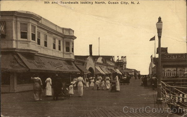 9th and Boardwalk looking North Ocean City New Jersey
