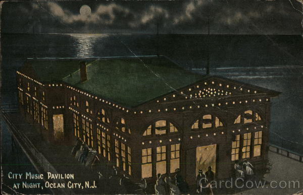 City Music Pavilion at Night Ocean City New Jersey