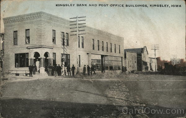 Kingsley Bank and Post Office Buildings Iowa
