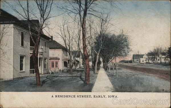A Residence Street Early Iowa