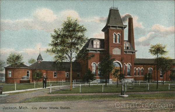 City Water Works Station Jackson Michigan