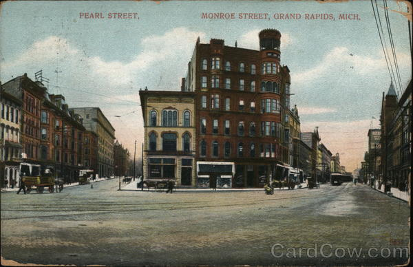 Pearl Street, Monroe Street Grand Rapids Michigan