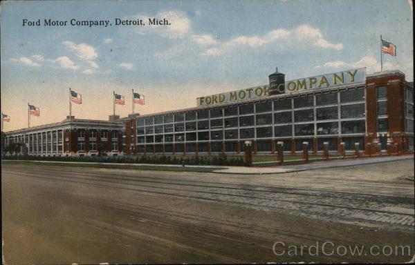 Ford motor company detroit mi postcard for Ford motor company detroit mi