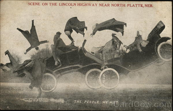 Scene on the Lincoln Highway Near North Platte Nebraska