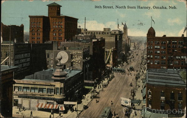 16th Street, North from Harney Omaha Nebraska