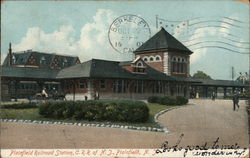 Plainfield Railroad Station Postcard