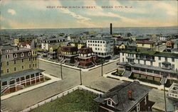 West From Ninth Street Postcard