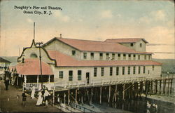 Doughty's Pier and Theatre Postcard