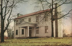 Historical Home of Col. Geo. Davenport After Restoration, Rock Island Arsenal