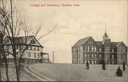 College and Dormitory Postcard