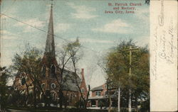 St. Patrick Church and Rectory Postcard