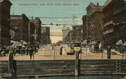 Woodward Ave., from River front