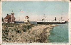 SS Manitou, Passing the Point Postcard