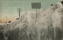 Snow Scene, Suffolk Street Postcard