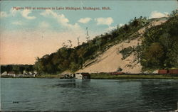 Pigeon Hill at entrance to Lake Michigan
