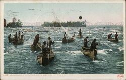 Indians Fishing in the Rapids
