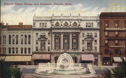 Detroit Opera House and Fountain