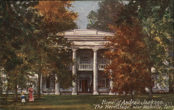 The hermitage home of andrew jackson presidents postcard for Hermitage house