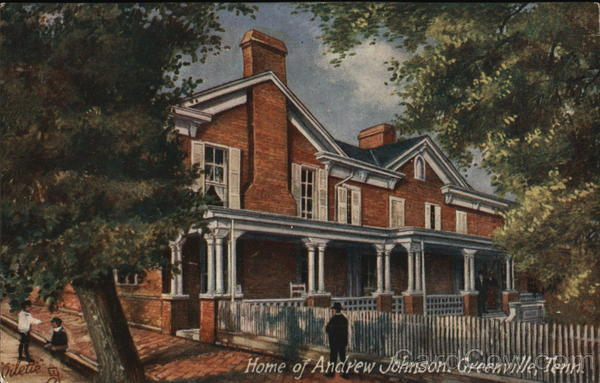 Greenville Home Of Andrew Jackson Greeneville Tn Postcard