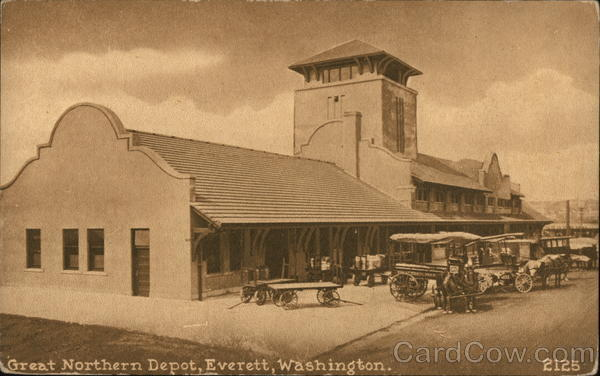 Great Northern Depot Everett Washington Depots