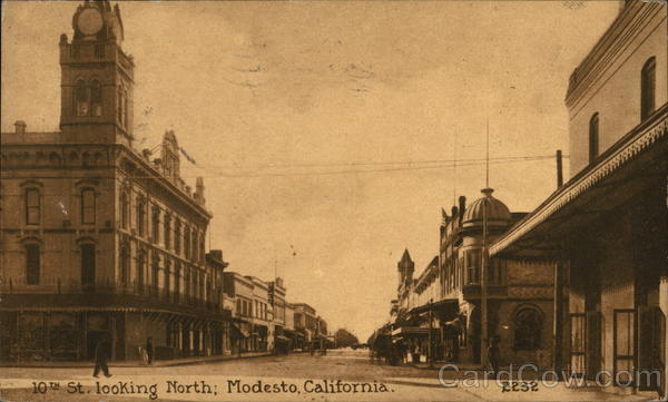 10th St. Looking North Modesto California