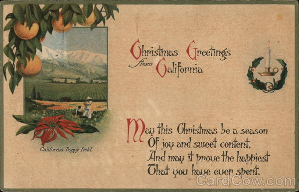 Christmas Greetings From California