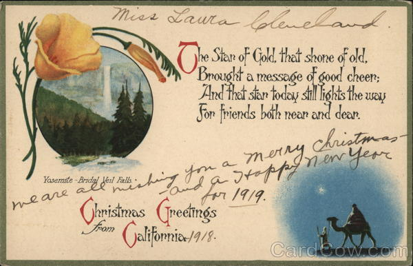 Christmas Greetings from California Yosemite Yosemite National Park