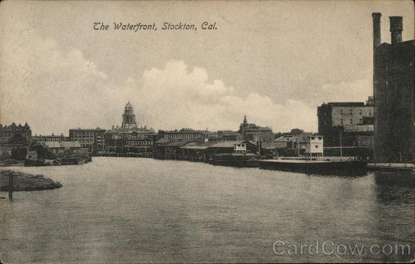 The waterfront stockton ca postcard for T shirt printing stockton ca