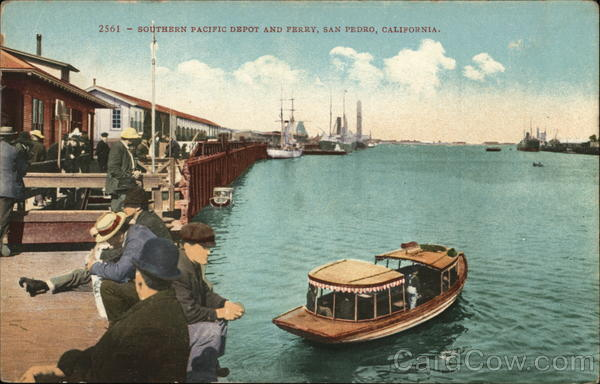 Southern Pacific Depot and Ferry San Pedro California