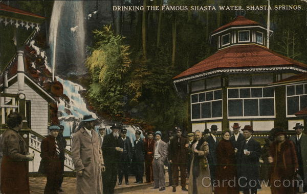 Drinking the Famous Shasta Water Shasta Springs California