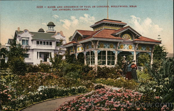 Kiosk and Residence of Paul de Longpre, Hollywood Los Angeles California