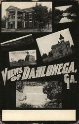 Views of Dahlonega, GA Postcard