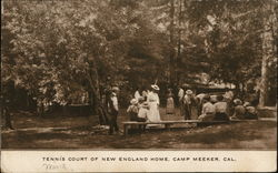 Tennis Court of New England Home Postcard