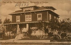 One of the Sorority Houses, University of Oregon
